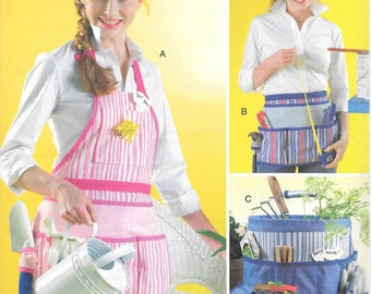 McCall's Fashion Acessories Pattern 4322 APRONS & GARDEN ORGANIZER for Misses/Men