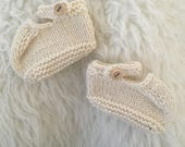 Hand Knit Mary Jane Booties