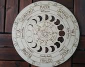 Jahresrad, Wheel of the Year, Pagan wheel,  Jahreskreis, Jahreszeitenfeste, Pentakel