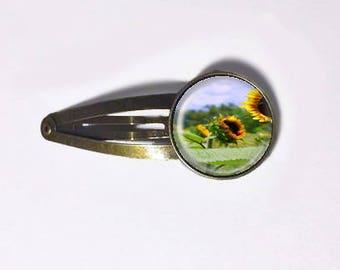 Sunflower Field Hair Clip