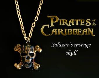 Pirates of the Caribbean Skull Pendant, Salazar s Revenge, Disney jewellery, Original gift