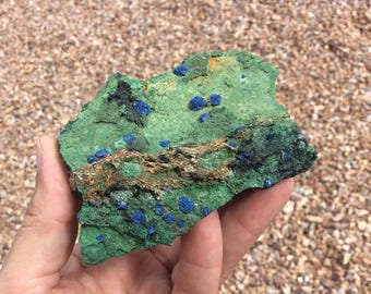 Malachite with Botryoidal Azurite