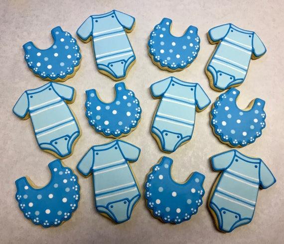 Baby Shower Cookie Favors Onesie Cookies Baby Bib Cookies