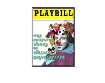 Theater / Show Charm - Playbill Play Bill - The Complete Works of William Shakespeare