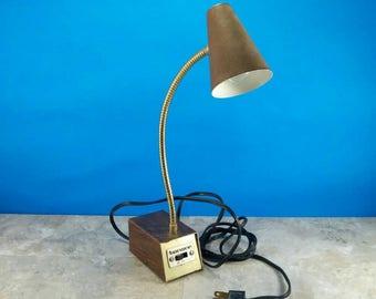 Vintage Desk Lamp by Tenson, Gooseneck Desk Lamp - Three Way Light - 1980s Office Decor