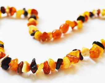 Baltic Amber - Teething Necklace for Baby - Mix Colored