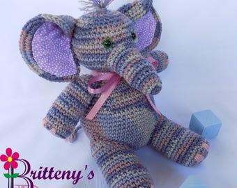 Stuffed Elephant / Musical Elephant / Musical Stuffed Elephant / Purple Stuffed Elephant / Baby Decor Elephant / Purple Baby Elephant