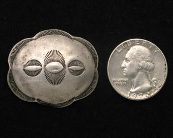 1940s Coin Silver Piece from a Southwest Native American hatband or belt