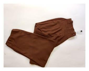 High Waist Pants | Brown Vintage slacks
