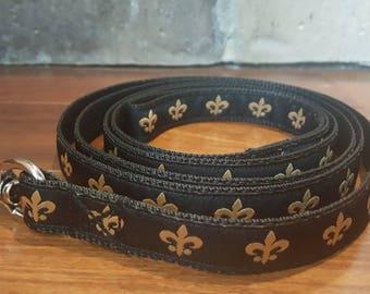 New Orleans Saints Fleur De Lis Dog Leash
