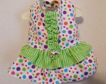Small Double Ruffle Harness Dress