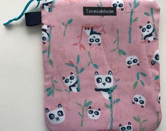 Small Pink Panda Zip Pouch