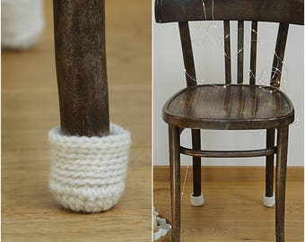 Floor protector, 8 wool chair protectors, chair leg socks, table socks, furniture accessories, home decor, Eco-friendly gift