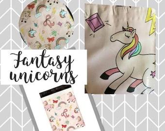20 pieces Magic Unicorns 10x13 Poly Mailers