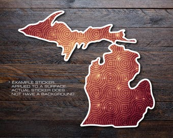 Michigan Mitten Vinyl Decal Sticker A40