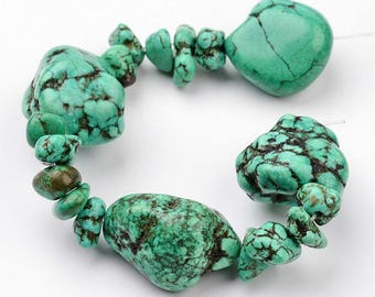 Very Large Turquoise Nuggets - 7-1/2-8""
