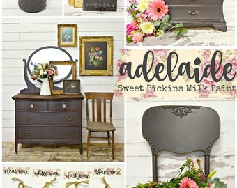 Sweet Pickins Milk Paint | NEW Color - ADELAIDE | Farmhouse Cottage | Chippy | Rustic | Primitive | Furniture Paint | Home Decor | Brown