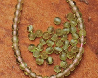 2mm Natural  Prehnite Gemstone     2mm Beads       Prehnite Beads