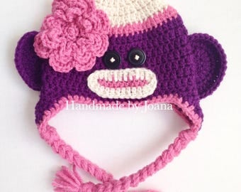 Crochet Sock Monkey Hat