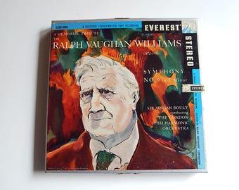 Ralph Vaughan Williams 1958 Symphony No. 9 E Minor 4 Tack Reel to Reel Tape