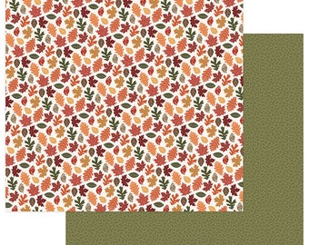 2 Sheets of Photo Play AUTUMN ORCHARD 12x12 Scrapbook Cardstock Paper - Bountiful