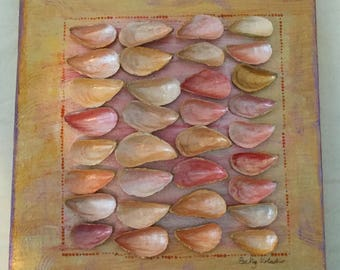 Gold and Pink Shell Painting