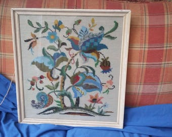 Large Vintage Tapestry Abstract Plants