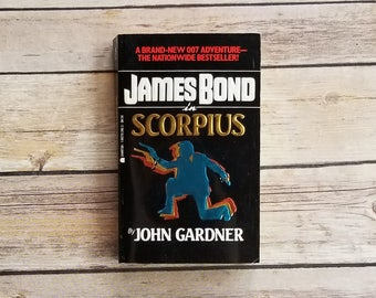James Bond In Scorpius John Gardner Investigation Mystery Novel British Secret Service Father's Gift Lazy Sunday Read Books Paperback Bond
