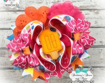 Popsicle OTT Bow- Over the Top Hairbow ~Summer inspired hairbow ~