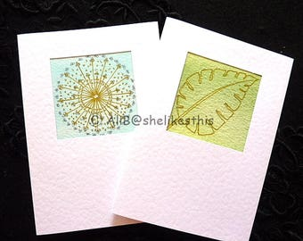 Original handmade art cards colourful watercolour abstract blank greeting cards with envelopes
