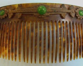 Faux Tortoise Shell Comb