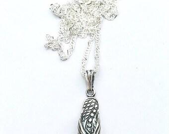Sandal jewelry, flip flop jewelry, sterling silver flip flop necklace, ocean bridesmaid necklace, coastal summer necklace