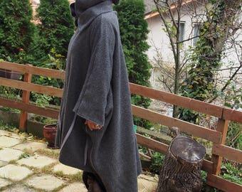 NEW COLLECTIONWinter  Hooded Coat, Extravagant Windproof Zipper Coat, Asymmetric Loose Coat, Maxi Coat Nara PV011