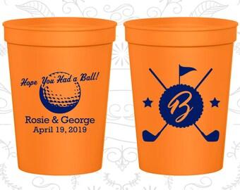Orange Stadium Cups, Orange Cups, Orange Party Cups, Orange Wedding Cups (325)