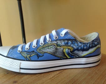Ocean Themed Converse Shoes