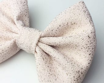 Soft Pink Sparkly Bow, Baby bows, girl bows, hair bows, classic bow, handmade bows