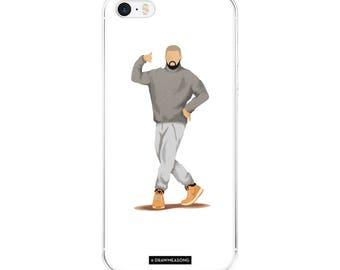 Hotline Bling Drake iPhone 5/5s/Se, 6/6s, 6/6s Plus Case, Dance Tutorial Illustration, Fun Pop Art, Dance Music Funny Drawing, Fan Art (1)
