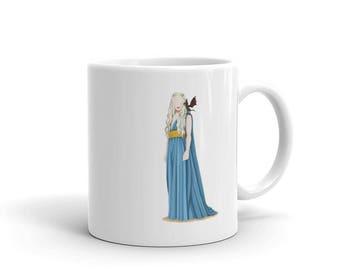 Khaleesi Girlboss Mug, GOT Game of Thrones Gift for Her, Future is Female, Daenerys Targaryen, Who Run the World, Girl Pop Art, Feminism