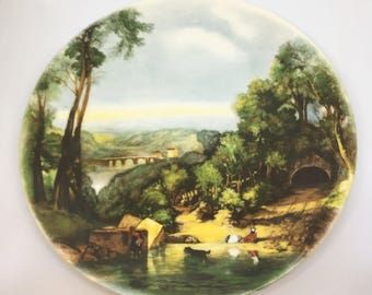 Vintage Poole Pottery Collectors Plate of Chidren and Dog Rural Scene
