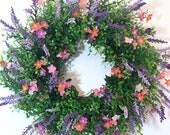 Boxwood Wreath, Year Round Wreath, Everyday Wreath, Front Door Wreaths, Year Round Wreaths for Front Door, Spring Wreath, Farmhouse Wreath
