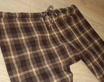 Thorsberg trousers checkered wool brown