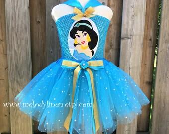 Princess Jasmine Tutu Dress Princess Jasmine Dress Turquoise tutu Jasmine Costume, Jasmine Outfit