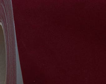 "Flock Burgundy 20"" Heat Transfer Vinyl Film By The Yard"