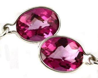 On Sale, 20% Off, Pure Pink Topaz, 925 Sterling Silver Threader Earrings, SE005