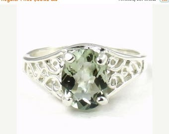 On Sale, 30% Off, Green Amethyst, 925 Sterling Silver Ring, SR005