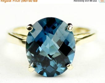 On Sale, 30% Off, London Blue Topaz, 18Ky Gold Ring, R055