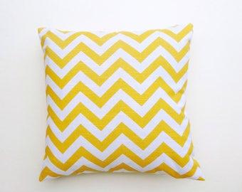 "Corn Yellow Slub Chevron Zigzag 16x16"" and many more, 100% cotton HOme Decorative throw Pillow case, Lumbar Cover"