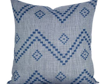 Taj pillow cover in Mist/Indigo - ON BOTH SIDES