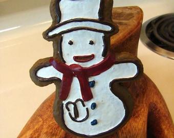 Snowman ornament, snowman cookie ornament, christmas ornament, snowman christmas ornament