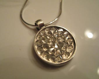 """Swarovski Crystal CAL Rocks Pendant Set In Sterling Silver With 18"""" Sterling Chain"""